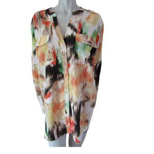 Calvin Klein Brush Stroke Print Blouse 2XL